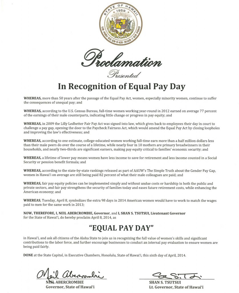 EqualPayProclamation-Gov-2014